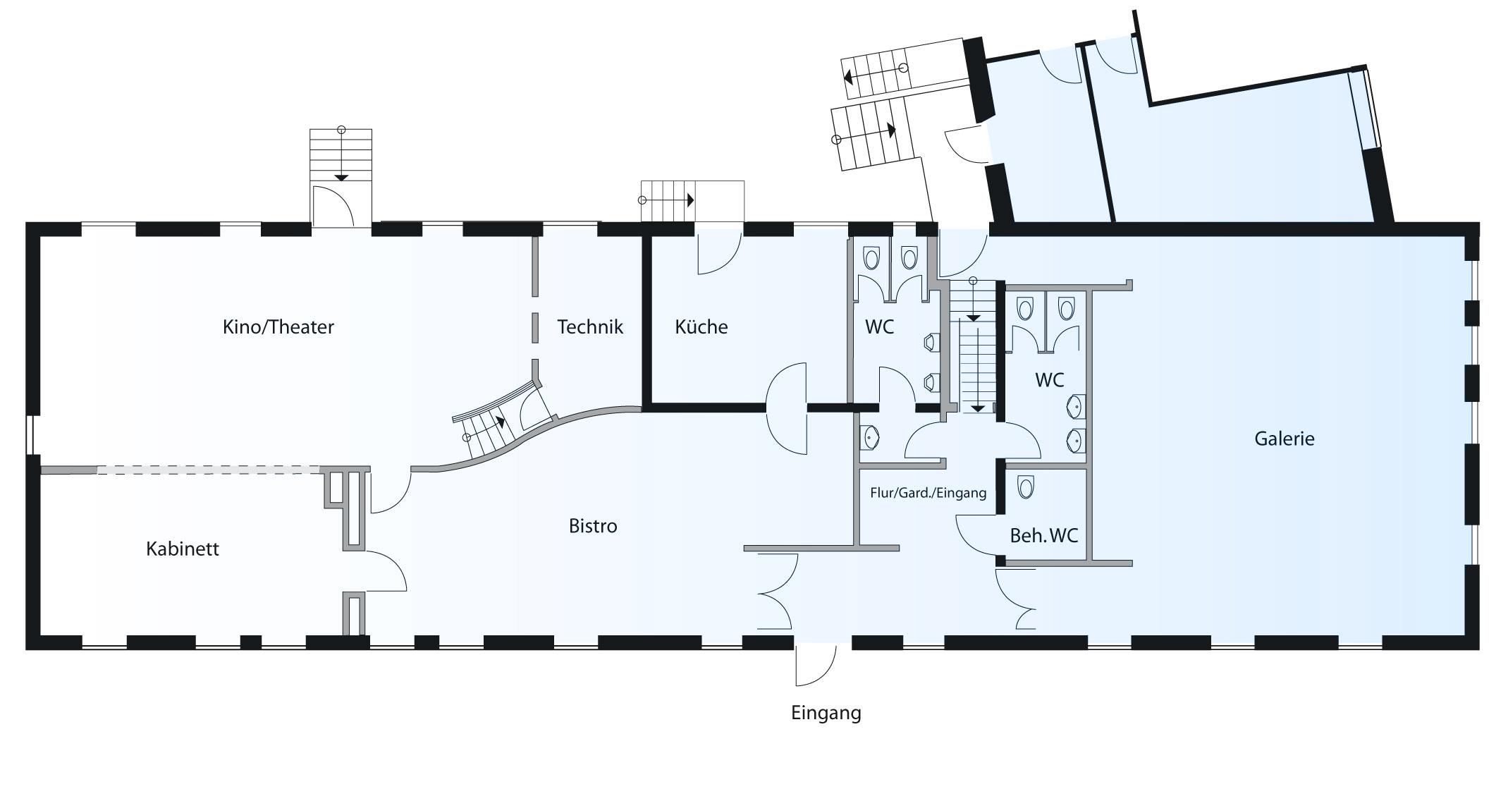 Ein Plan der Räumlichkeiten des Kulturforums